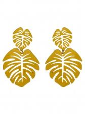Bohemian Solid Color Leaf Ladies Earrings