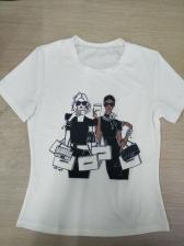 Fashion Figure Printed Short Sleeve t Shirts