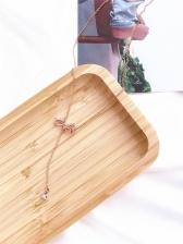 Versatile Rhinestone Bow Shape Skinny Necklace