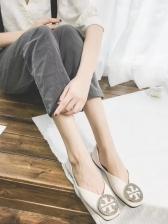 Simple Design Rhinestone Decor Flats For Women