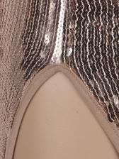 Deep V Neck Tassel Hem Sequin Sexy Dress