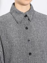 Single-Breasted Patchwork Ruffles Hem Midi Dress