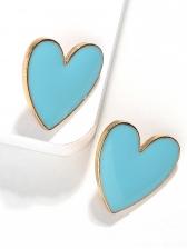 Easy Matching Solid Heart Earrings For Women