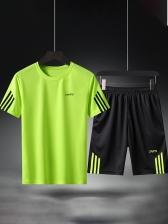 Easy Matching Line Patchwork Men Activewear