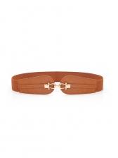 Fashion Solid Color Elastic Wide Belt