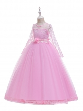 Lace Patchwork Tulle Large Swing Girls Maxi Dress