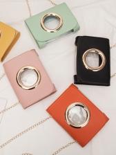 Fashion Transparent Square Chain Bag