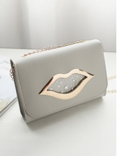 Lips Star Printed Square Chain Bag For Women