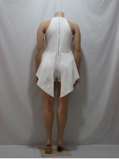 Irregular Fake Two-piece Sleeveless Rompers For Women