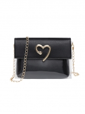 Heart Decor Transparent Two Piece Chain Bag