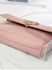 Heart Decor Transparent Two Piece Chain Bag