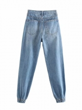 Fashion High Rise Jeans For Women