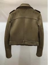 Chic Multiple Zipper Faux Suede Jackets For Women