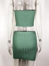 Euro Strapless Two Piece Skirt Set