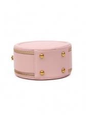 Round Shape Rhomboids Pattern Shoulder Bags For Women