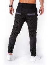 Casual Contrast Color Mens Slim Fit Cargo Pants