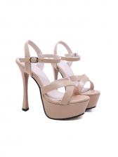 Easy Matching Ankle Strap Platform High Heels