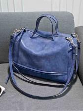 Stylish Solid Soft Woman Shoulder Bag
