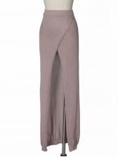 Sexy High Rise Slit Knitting Beach Bodycon Skirt