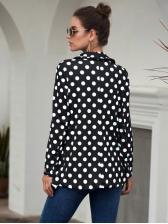 Easy Matching Polka Dot Long Sleeve Blazer
