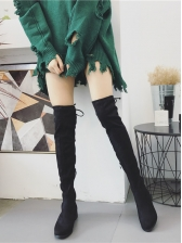 Fashion Solid Color Over The Knee Boots