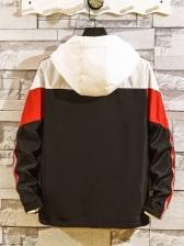 New Design Long Sleeve Contrast Color Mens Jacket