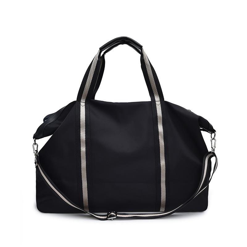 Fashion Contrast Color Large Capacity Travel Handbag