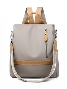 Korean Design Nylon Solid Casual Fashion Women Outdoor Backpacks