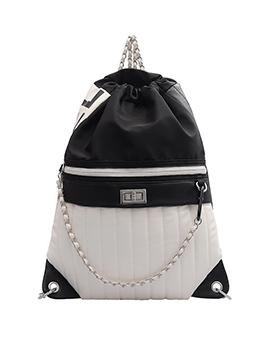 Fashion Versatile Black Chain Backpack