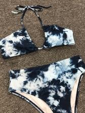 Sexy Print Gradient Blue Swimsuit