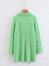 Fashion Knitting Loose Turtleneck Pullovers