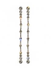 Individual Simple Tassels Pattern Rhinestone Decor Earrings