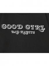 Bare Waist Print Loose Short T Shirt