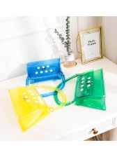 Bright Color Semicircle Handle Transparent Handbags