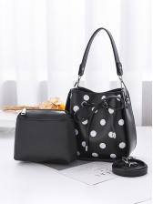 Practical Polka Dots Drawstring Handbag Sets