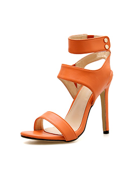 Candy Color Hollow Out Women High Heel Sandals