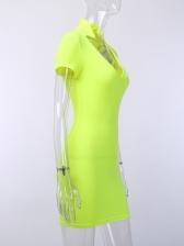 Sexy Deep v Solid Striped Bodycon Dress