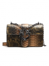 Vintage Style Snake Printed Empaistic Ladies Bag