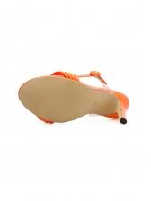 Summer Knotted High Heels Sandals In Orange