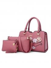 Embroidery Floral Handbag Set For Women