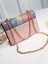 Gradient Color Sequin Tassel Crossbody Bags