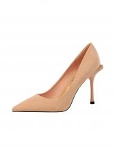 Minimalist Suede Pointed Toe Ladies Stiletto Heels