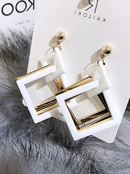 Easy Matching Square Shape Women Earrings