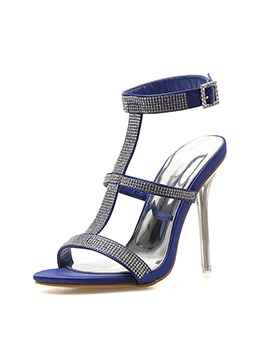 Rhinestone Decor High Heeled Sandals For Women