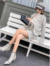 Graceful Tassels Coat With Skirt Two Piece Outfits