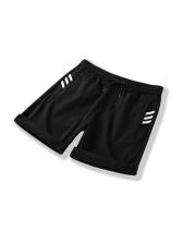 Sport Style Drawstring Mens Summer Shorts