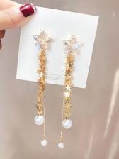Fashion Star Tassels Pear Decor Earrings