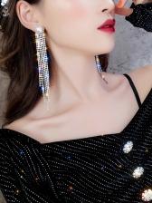 Stylish Tassels Rhinestone Faux Pearl Women Earrings