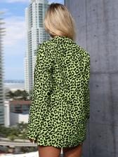 Fashion Leopard Printed Women Suit