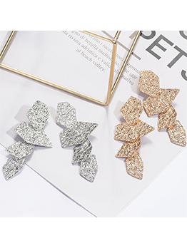 Stylish Irregular Shape Patchwork Women Earrings